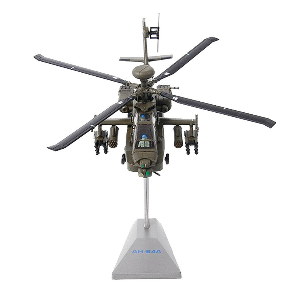 1 72 Scale AH-64 Apache Helicopter Airplanes Airforce Diecast Alloy Models