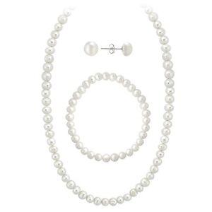 925-Sterling-Silver-5-5-6mm-Freshwater-Pearl-Necklace-Bracelet-Earrings-Set