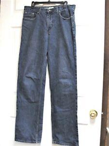 ST-JOHN-039-S-BAY-SJB-Men-039-s-Straight-Fit-Dark-Wash-Blue-Jeans-Size-34-x-34