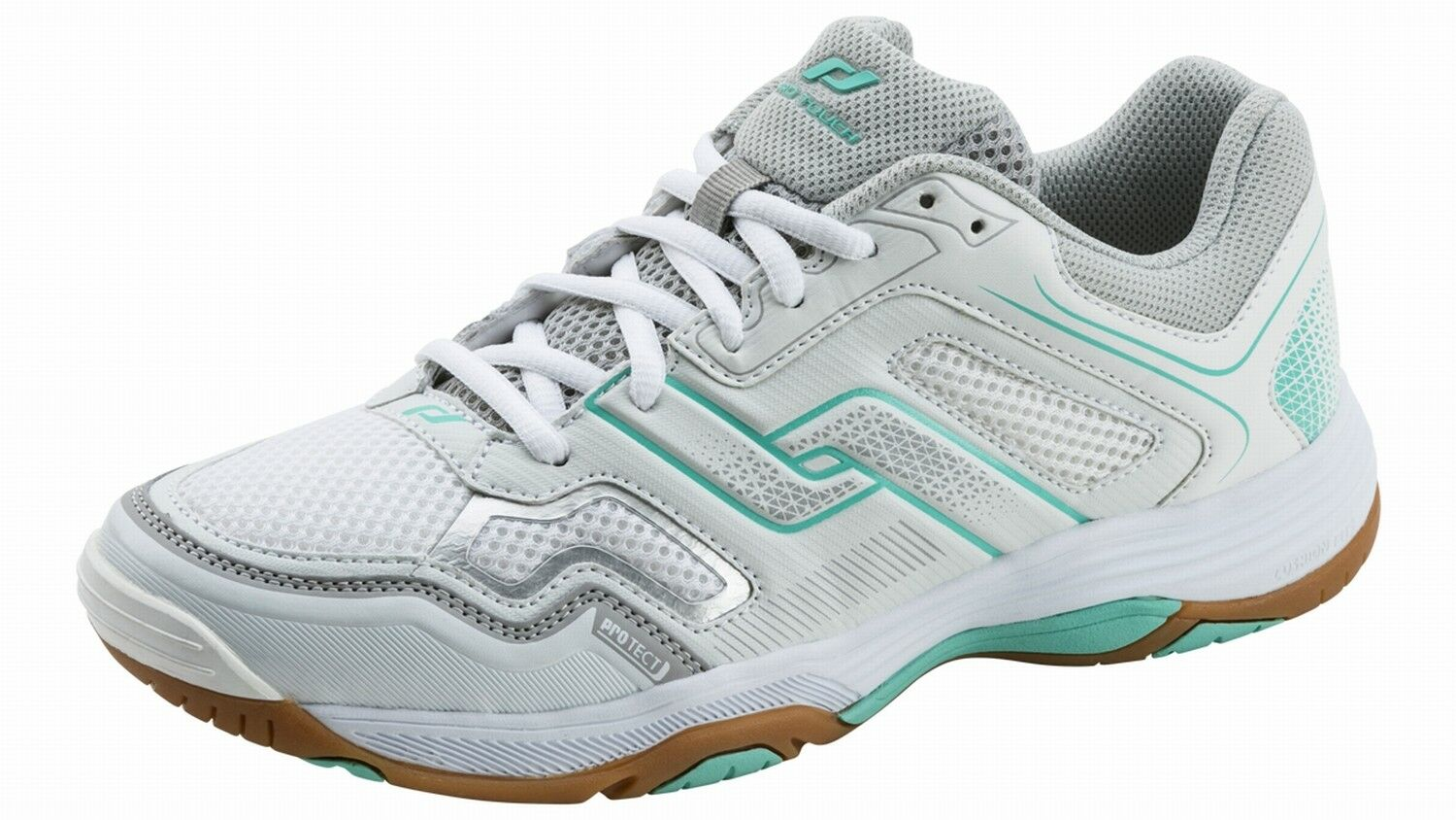Pro Touch Ladies Interior shoes Lace up Rebel II W White Grey Turquoise