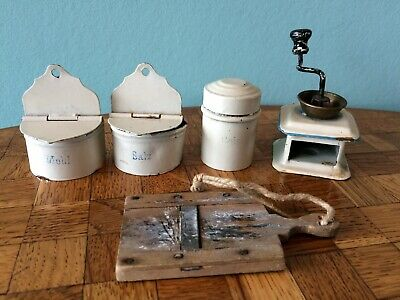 Alte Vorratsdosen Kaffeemühle Blech große Puppenstube Puppenküche dollhouse | eBay