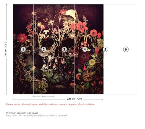 Skull Bloom Wall Mural by Ali Gulec WS-51687/_WP