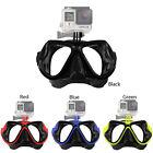 Bajo agua Máscara De Buceo Snorkel Gafas Natación para cámara GoPro Soporte