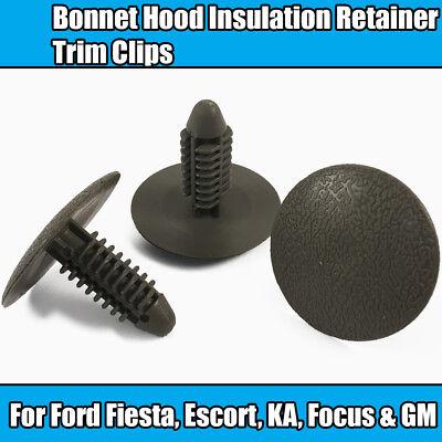 10x Bonnet Hood Insulation Retainer Trim Clips For Ford Fiesta Escort KA Focus