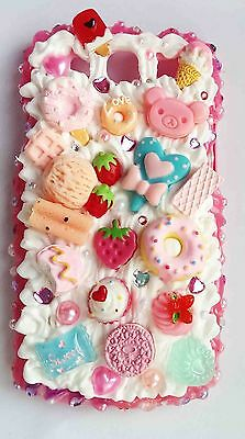 Decoden cabochon on whipped cream phone cases for ALL Samsung models