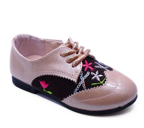 GIRLS KIDS CHILDRENS PINK GLITTER CUTE DIAMANTE PARTY ZIP-UP SHOES PUMPS UK 8-2
