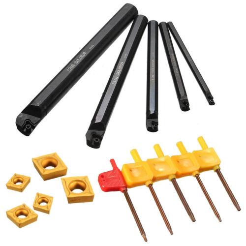 5X 7//10//12//16//20mm SCLCR09 Lathe Turning Tool Holder Boring Bar Insert For CCMT