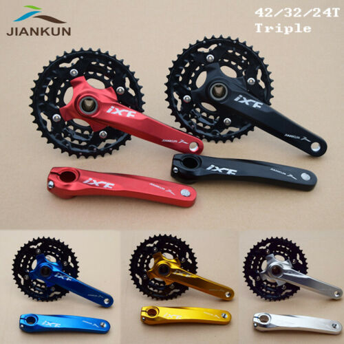 3X10s Triple Speed MTB Bike Crankset BB Crank set 104//64bcd Chainring Sprocket