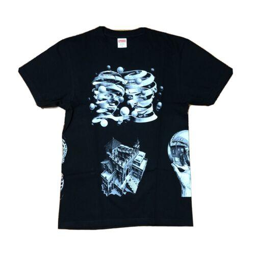 Supreme MC Escher Collage Tee Black Medium SS17 Us