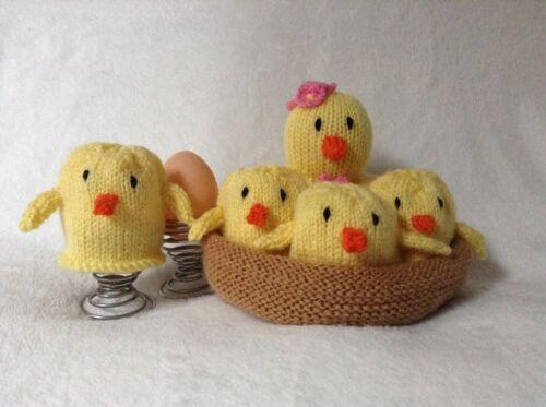 Knitting Pattern-mère poulet et Pâques poussins in NEST EGG Cozy//se détend