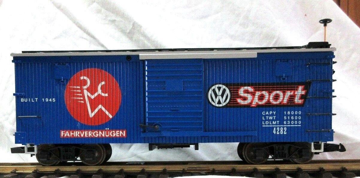 LGB 4290 VW  SPORT BOX CAR   W  METAL WHEELS