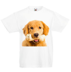GOLDEN Retriever cane KID/'S T-shirt Bambini Ragazzi Ragazze Unisex Top
