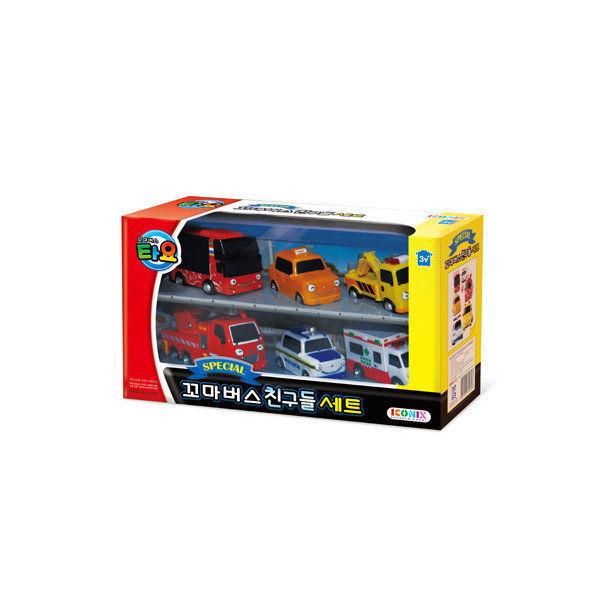 [TAYO] The Little Bus Friend 6 pcs mini Car Toy - Pat Nuri Frank Alice Toto i_g