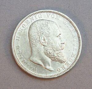 Silbermünze 5 Mark Deutsches Reich Münze Wilhelm Ii Wuerttemberg