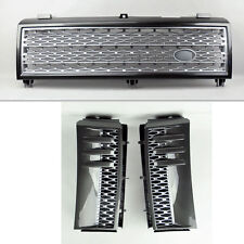 Range Rover 03-05 Mesh Gunmetal Front Bumper Hood Grill Inc Side Fender Vents