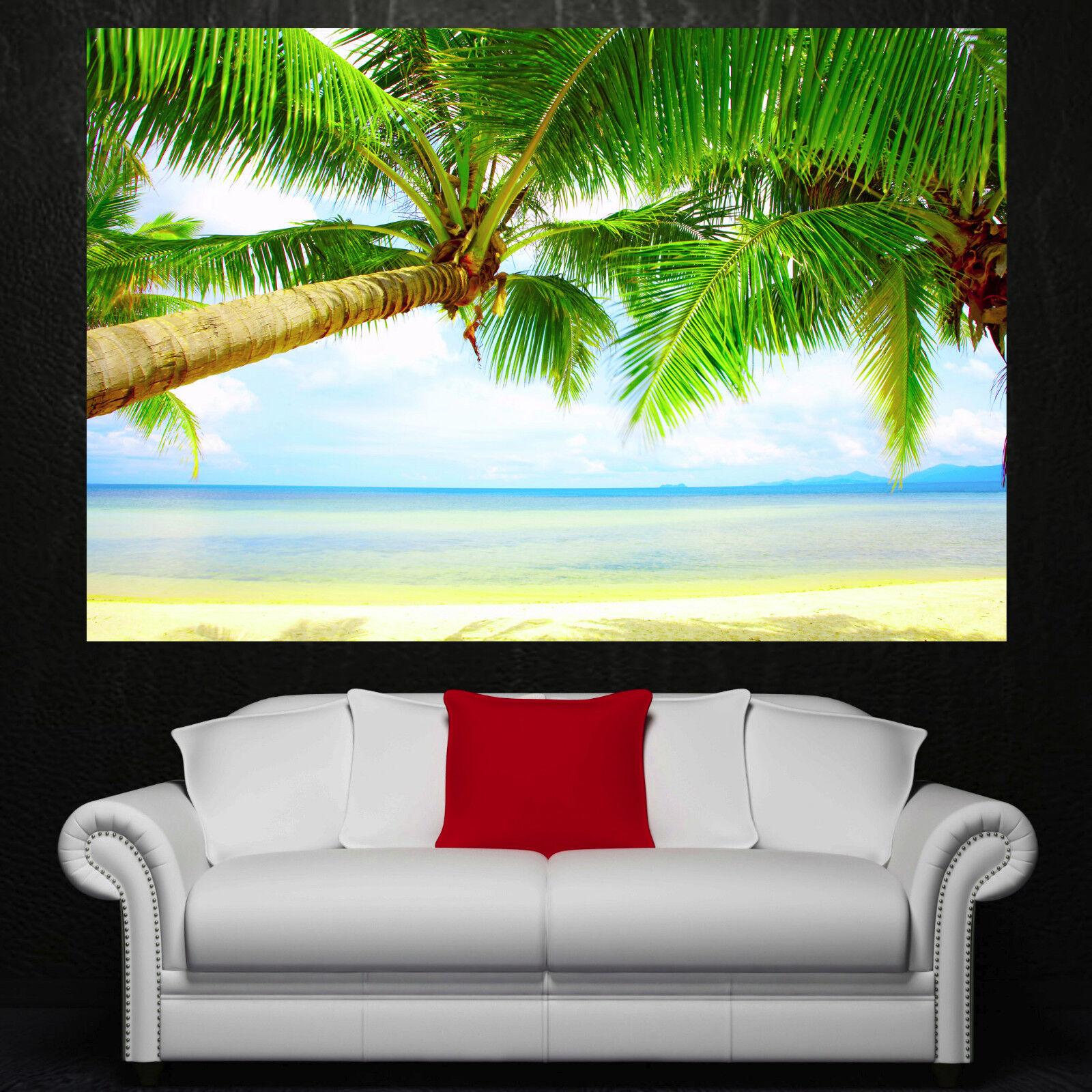 Beach Palm Tree Sky Canvas Home Decor Wall Art Prints Photo Farbeful Picture 1 2