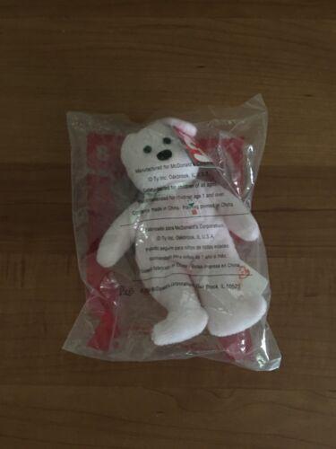 2004 McDonald/'s Teenie Beanie Shake The Bear # 8 Mint In Sealed Baggie