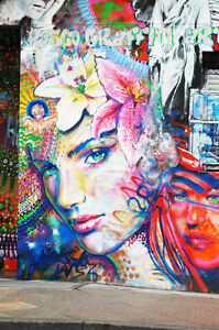 Details Zu Cool Graffiti Street Art Canvas 61 Contemporary Abstract Pop Art Wall Hanging