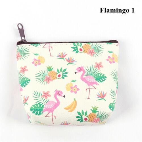 Holder Women Handbag Unicorn Coin Purse Earphone Package Flamingo Mini Wallet