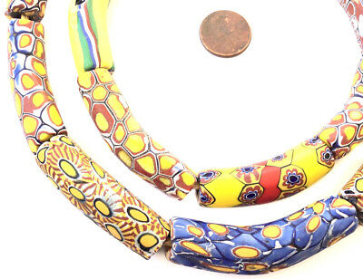 African Trade Beads Rare Rooster Elbow Millefiore Bead Murano Glass Bead Buy 2 and Save Glass Large Elbow Trading Bead