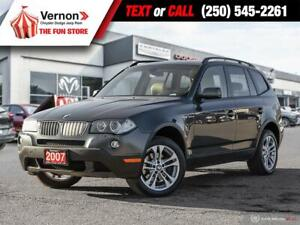 2007 BMW X3 ALLWHEELDRIVE-HEATLEATHERSEAT-SUNROOF-SENSORS