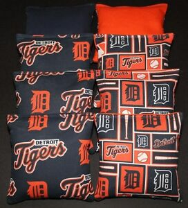 8 ACA Regulation Cornhole Bags 8 handmade from Detroit Lions Fabric 2 Designs