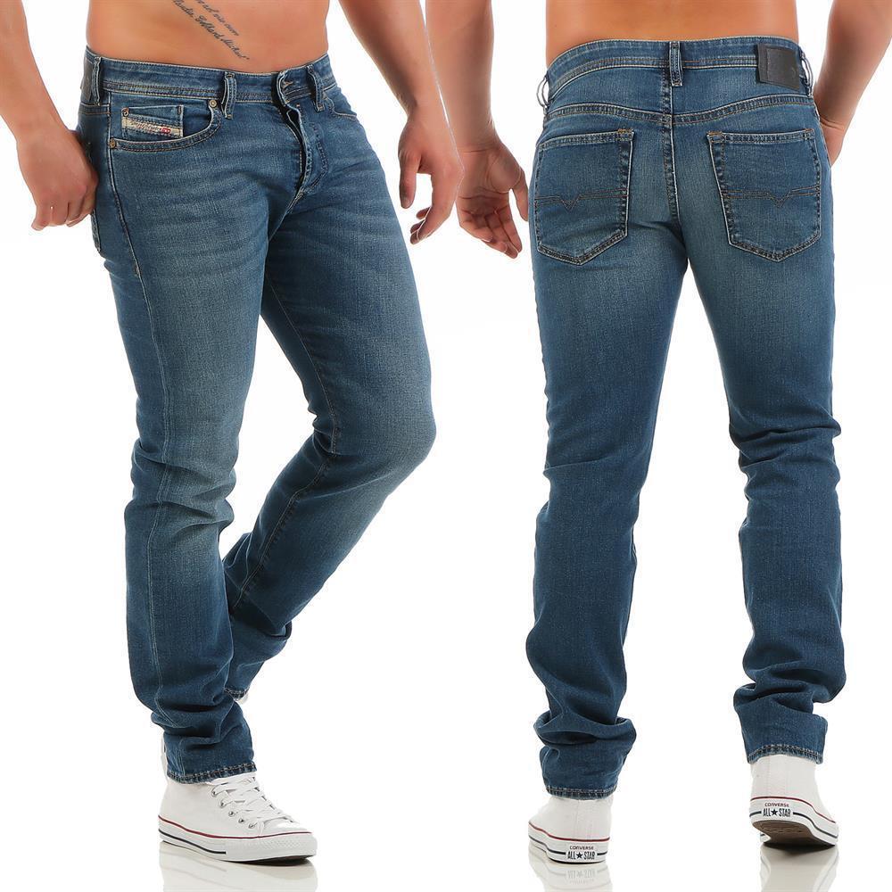 Diesel Buster 0837I Jeans Regular SLIM  TAPErojo Hombres Jeans Pantalones De Mezclilla  venta caliente