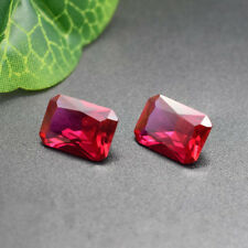 11.36CT AAA Natural Garnet Zircon Diamond Emerald Cut 14x10mm VVS Loose Gemstone