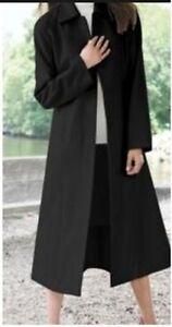 women&039s winter balmacaan black wool blend coat long jacket