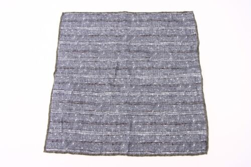 NWT Brunello Cucinelli Men/'s Multi-Pattern Pocket Square  A176