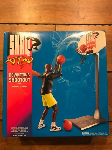 VINTAGE 1993 Kenner SHAQ ATTAQ Attack Downtown Shootout NEW Complete in Box