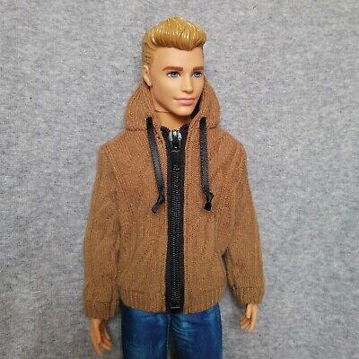 "Handmade doll clothes black /& grey hoodie for 12/"" barbie ken dolls"