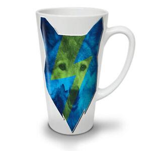 Blue Wolf Face Dog NEW White Tea Coffee Latte Mug 12 17 oz | Wellcoda