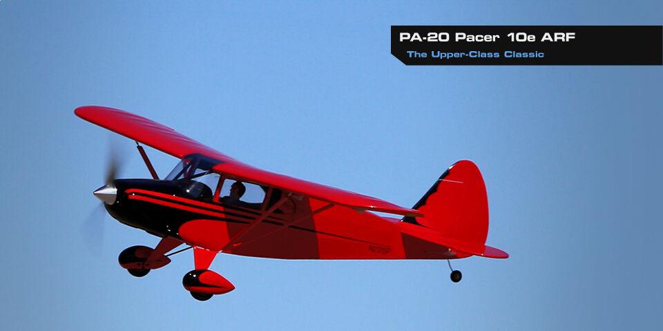 - flite PA20 PA20 Eflite E Pacer 10E Radio Control Remoto Control balsa airplane ARF EFL2790