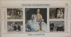 SWEDEN-MNH-Svensk-Filmhistoria-1981-SG1095-Swedish-Film-History-Minisheet