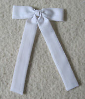 Colonel Tie Western Bow Tie Square Dance White Clip-on Cowboy Wedding