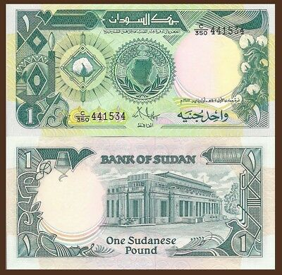 Sudan P39 cotton plant map // Central Bank building  UNC see UV /& w//m 1 Pound