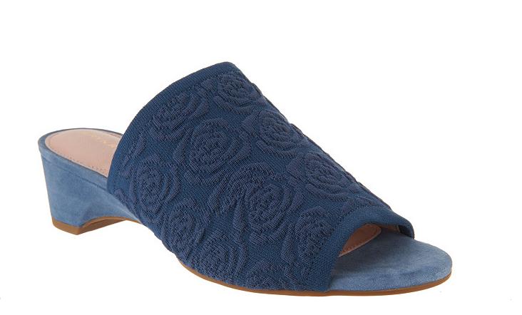 Taryn pink Slip On Mules - Nancy Ceramic Denim bluee New Womens 6.5 shoes