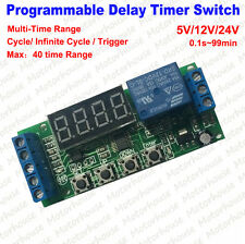 Programmable Relay Control Cycle Delay Timer Trigger Relay Switch Module 12v 24v