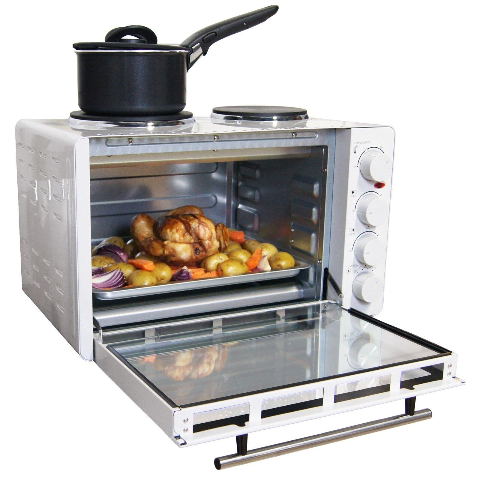 Igenix IG7130 Tabletop Mini four et grill avec double plaques plaques de cuisson, 30 L