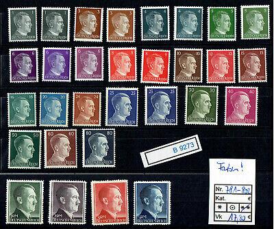 (b9273) Dr Nr. 781 - 802 A ** Dauerserie Adolf H. --farben !! --
