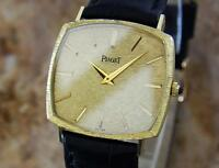 Piaget 18k Solid Gold Men's 1980s Vintage Manual Luxurious Dress Watch MX130