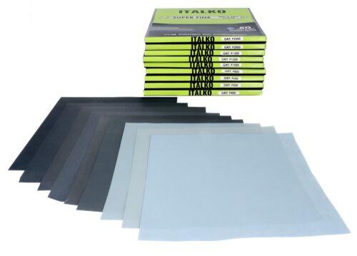 ITALKO Schleifpapier Wasserfest Nasspapier 230x280 Schleifscheiben Wahl 400-2500