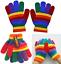 Set-of-Rainbow-Beanie-Hat-amp-Knitted-Stretch-Gloves-Warm-Wool-Gripper-Boys-Girls thumbnail 4