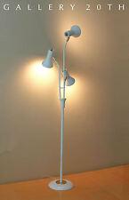 MINTY! MID CENTURY MODERN LIGHTOLIER FLOOR LAMP! White Eames Vtg Atomic 50s Pole