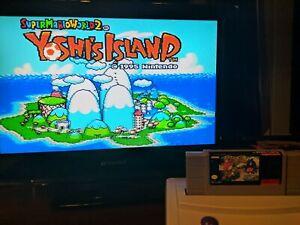 Yoshi's Island Mario World 2 Super Nintendo SNES Original Authentic Game!