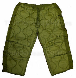 US-Military-M-65-FIELD-PANT-LINER-Large-OD-Green-Cold-Weather-Insert-Army-NEW