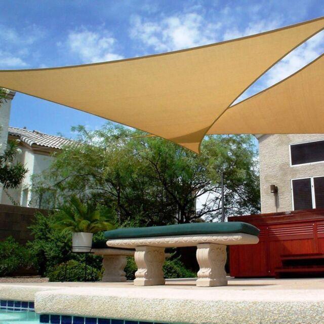Shade/&Beyond 2 Pcs 12x12x12 Sun Shade Sail Triangle Sand UV Block for Yard Patio Backyard
