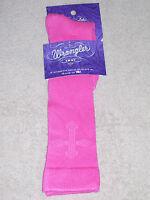 Wrangler Socks - Ladies Rayon Cross Knee High - 9407 - Pink - Medium - 9 To 11