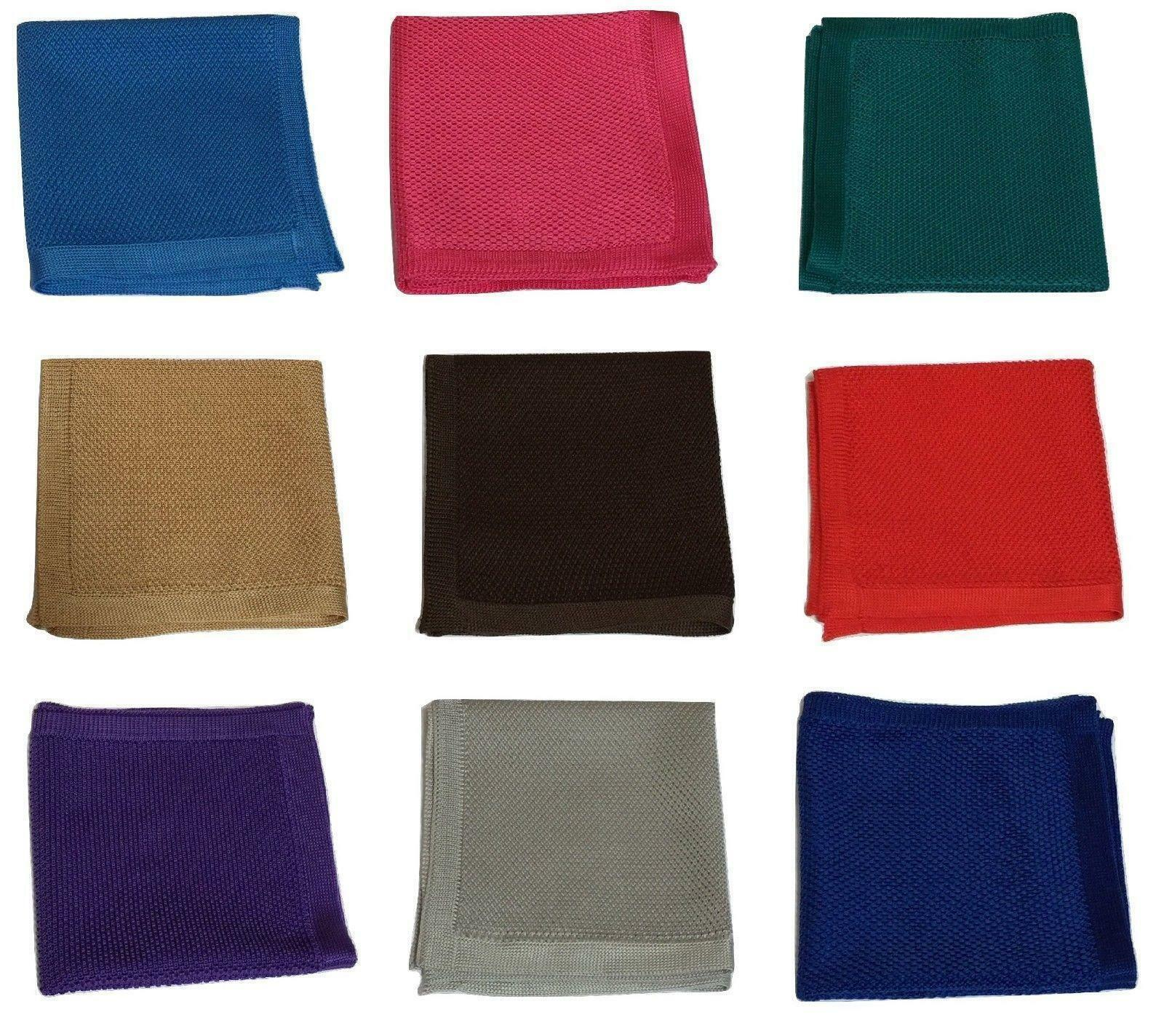 Premium Hand Made Mens Square Crocheted Wedding Event Pocket Handkerchief